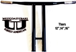 12 inch Westcoast-Tbars POWDERCOAT BLACK