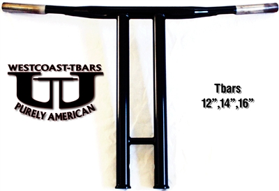 14 inch Westcoast-Tbars POWDERCOAT BLACK