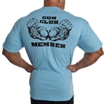 Be a Camp Muscle Gun Club Member and show it proudly. These are making a serious statement. Lock and Load guys! Camp Muscle logo left chest. 100% Cotton
