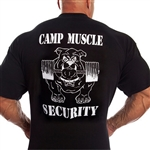 This t-shirt can kick some serious tail. Classic Military font. Camp Muscle logo on the front left chest.