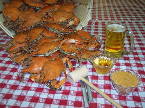 Steamed CrabsMaryland Blue Crabs