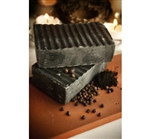 Raw Vegan Soap - Black Pepper Clementine with Activated Bamboo Charcoal