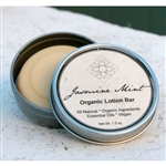 Jasmine Mint Organic Lotion Bar - Living Earth Beauty