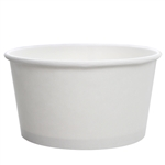 24oz WHITE DOUBLE POLY PAPER YOGURT - COLD/HOT FOOD CONTAINER 142mm, 12 - 50PCS SLEEVES 600 PCS