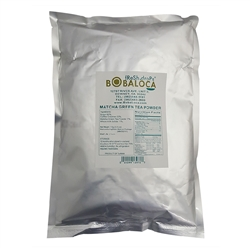 BOBA LOCA® MATCHA GREEN TEA MILK POWDER, 2.2 lbs (1kg) BAG