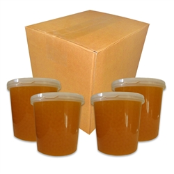 CASE OF BOBA LOCA® MANGO BURSTING POPPING BOBA 7.04 LBS (3.2 KG)  4 JARS PER CASE