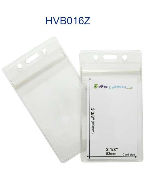 Vertical Name Badge Holder Hvb016z Zipper Badge Holders