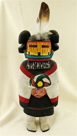 World renowned Kachina Hopi carver Jimmy Kewanwytewa.