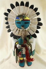 This Tawa Kachina was carved and signed by world renowned Hopi carver Jimmy Kewanwytewa.