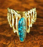 RC GORMAN COLLECTION BEAUTIFUL GOLD RING