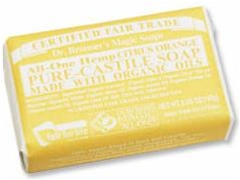 Dr. Bronner's Organic Citrus Bar Soap 5 OZ.