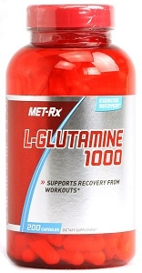 MetRx L-Glutamine 1000mg - 200 ct