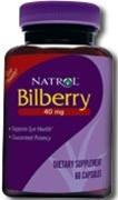 Natrol Bilberry 40mg 60 caps