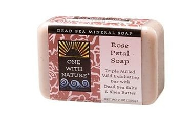 One With Nature Rose Petal Soap Bar 7oz