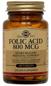 Solgar Folic Acid 800 mcg 250 caps
