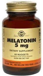 Solgar Melatonin 5 mg Nuggets