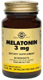 Solgar Melatonin 3 mg - 60 or 120 Nuggets