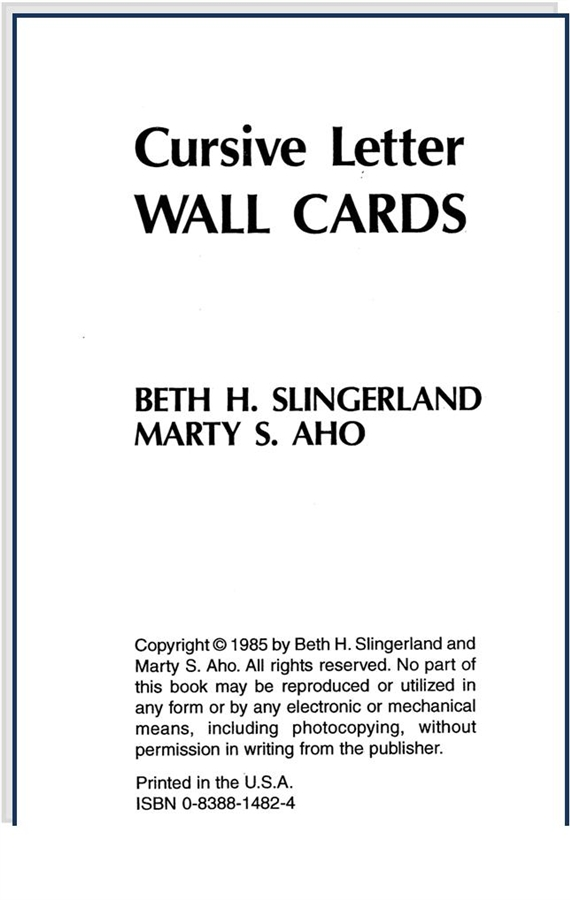 Letter Wall Cards