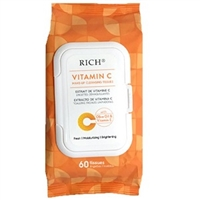 VITAMIN C MAKE UP CLEANSING TISSUES