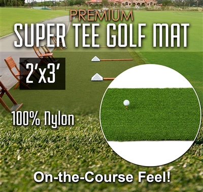 Super Tee Golf Mat - 2 feet x 3 feet
