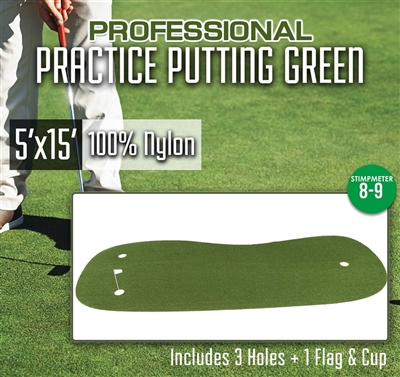 Professional Synthetic Nylon Turf Practice Putting Green – 5 feet x 15 feet