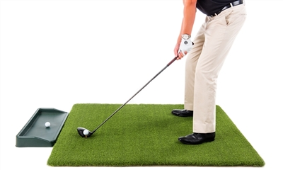 Ultimate Super Tee Golf Mat with Tray - 5 feet x 5 feet