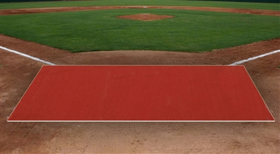 6 feet x 12 feet Clay Pro Ball Mat Without Homeplate, Without Lines, 5mm Foam Backing