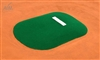 Allstar Portable Game Mound and Youth Training Fiberglass Pitching Mound, Green - 53 inches wide x 75 inches long x 6 inches tall