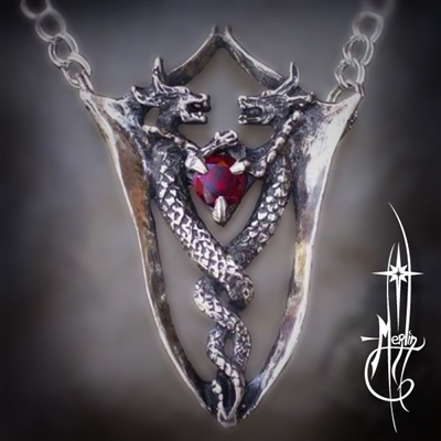 Twin Dragons Necklace