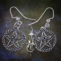 Caduceus Pentacle Earrings