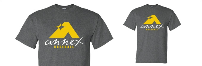 Annex Baseball Dark Heather T-Shirt