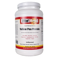 Vital Mood Non-GMO Yellow Pea Protein - Soy Free, Low Carb, Dairy Free, Cholesterol Free, Fat Free, Vegetarian, Vegan