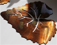 Single Aspen Leaf Metal Art Decor Accent
