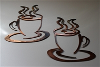 Coffee Cups Set of 2 Copper/Bronze plated