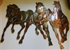 Running Horses Metal Art