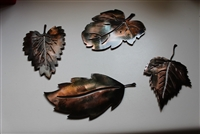 Leaf Assortment (4) Set 1 Metal Art Decor Copper/Bronze