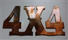 4X4 Metal Wall Art Sign Copper/Bronze Plated