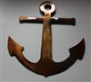 "Anchor copper/bronze plated 6"" tall"