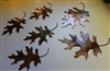 Metal Oak Leaves Copper/Bronze plated (6)