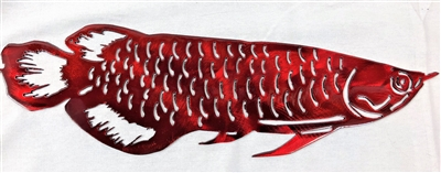 Arowana Fish Metal Wall Art Decor