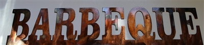 Barbeque Metal Wall Art Sign Copper/Bronze Plated