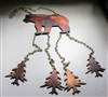 Bear and Trees Metal Art Wind Chime