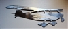 Flying Cessna Metal Wall Art Decor Silver