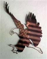 """Patriotic Eagle Landing""  Metal Wall Art piece from HGMW"