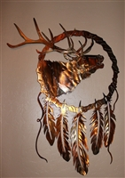 Elk Dream Catcher Metal Art