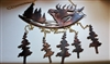 Elk and Tree's Metal Wall Art Wind Chime