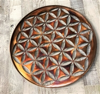 Flower of Life Metal Wall Art 18""