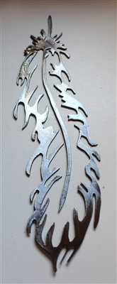 Feather Metal Wall Art Decor Accents