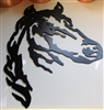 Horse Head Black Metal Wall Art Western Decor