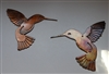 Hummingbird Pair Metal Wall Art Decor